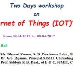"Two Days Workshop on ""(I O T)"""